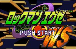 Title screen of Rockman EXE WS on the Bandai WonderSwan Color.