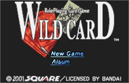 Title screen of Wild Card on the Bandai WonderSwan Color.