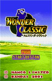 Title screen of Wonder Classic on the Bandai WonderSwan Color.