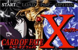 Title screen of X: Card of Fate on the Bandai WonderSwan Color.