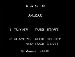 Title screen of Amidar on the Casio PV-1000.