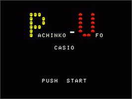 Title screen of Pachinko-UFO on the Casio PV-1000.