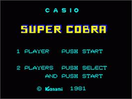 Title screen of Super Cobra on the Casio PV-1000.