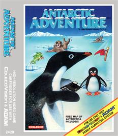 Box cover for Antarctic Adventure on the Coleco Vision.