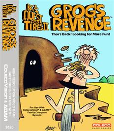 Box cover for BC's Quest for Tires 2: Grog's Revenge on the Coleco Vision.