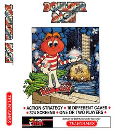 Box cover for Boulder Dash on the Coleco Vision.