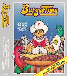 Box cover for Burger Time on the Coleco Vision.
