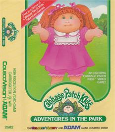 Box cover for Cabbage Patch Kids Adventures in the Park on the Coleco Vision.