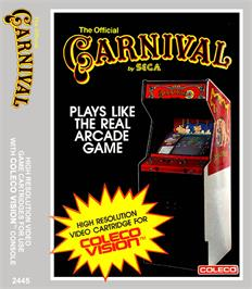 Box cover for Carnival on the Coleco Vision.