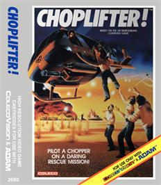 Box cover for Choplifter on the Coleco Vision.