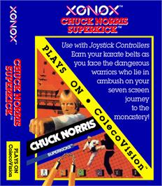 Box cover for Chuck Norris Superkicks on the Coleco Vision.