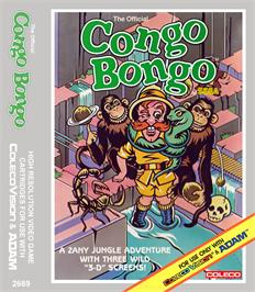 Box cover for Congo Bongo on the Coleco Vision.