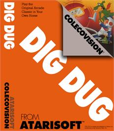 Box cover for Dig Dug on the Coleco Vision.