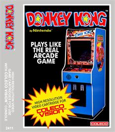 Box cover for Donkey Kong on the Coleco Vision.