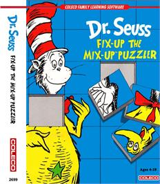 Box cover for Dr. Seuss's Fix-Up the Mix-Up Puzzler on the Coleco Vision.
