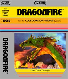 Box cover for Dragon Fire on the Coleco Vision.