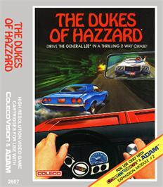 Box cover for Dukes of Hazzard on the Coleco Vision.