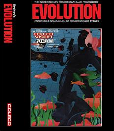 Box cover for Evolution on the Coleco Vision.