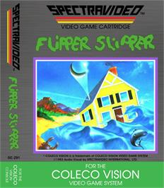 Box cover for Flipper Slipper on the Coleco Vision.