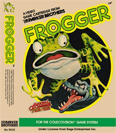 Box cover for Frogger on the Coleco Vision.