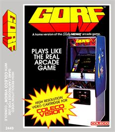 Box cover for Gorf on the Coleco Vision.