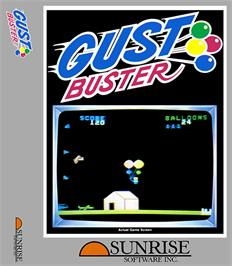 Box cover for Gust Buster on the Coleco Vision.