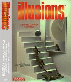 Box cover for Illusions on the Coleco Vision.