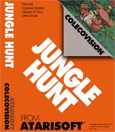 Box cover for Jungle Hunt on the Coleco Vision.