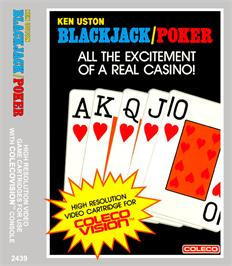 Box cover for Ken Uston's BlackJack & Poker on the Coleco Vision.