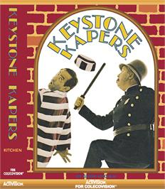 Box cover for Keystone Kapers on the Coleco Vision.