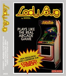 Box cover for Lady Bug on the Coleco Vision.