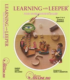 Box cover for Learning with Leeper on the Coleco Vision.