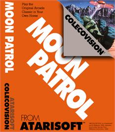 Box cover for Moon Patrol on the Coleco Vision.
