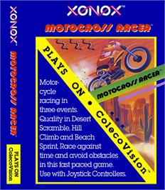 Box cover for Motocross Racer on the Coleco Vision.