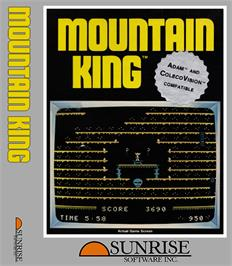 Box cover for Mountain King on the Coleco Vision.