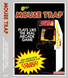 Box cover for Mouse Trap on the Coleco Vision.