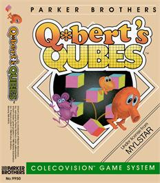 Box cover for Q*bert's Qubes on the Coleco Vision.