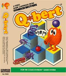 Box cover for Q*bert on the Coleco Vision.