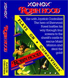 Box cover for Robin Hood on the Coleco Vision.