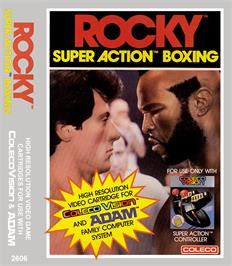 Box cover for Rocky Super Action Boxing on the Coleco Vision.