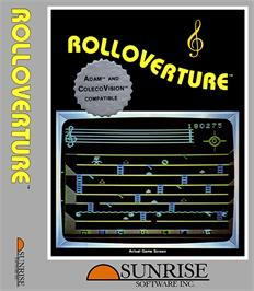 Box cover for Rolloverture on the Coleco Vision.