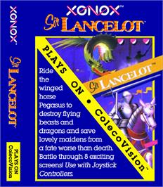 Box cover for Sir Lancelot on the Coleco Vision.