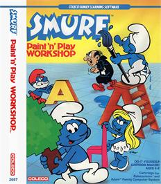 Box cover for Smurf: Paint 'n' Play Workshop on the Coleco Vision.