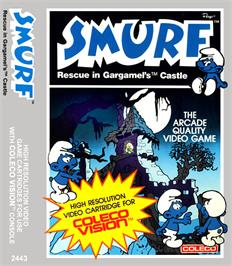 Box cover for Smurf: Rescue in Gargamel's Castle on the Coleco Vision.