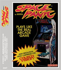Box cover for Space Panic on the Coleco Vision.