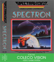 Box cover for Spectron on the Coleco Vision.
