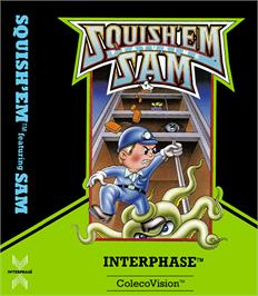 Box cover for Squish 'em Sam on the Coleco Vision.