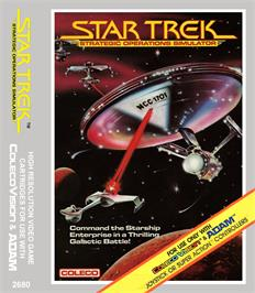 Box cover for Star Trek Strategic Operations Simulator on the Coleco Vision.