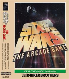 Box cover for Star Wars Arcade on the Coleco Vision.