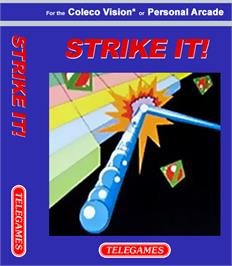 Box cover for Strike It on the Coleco Vision.
